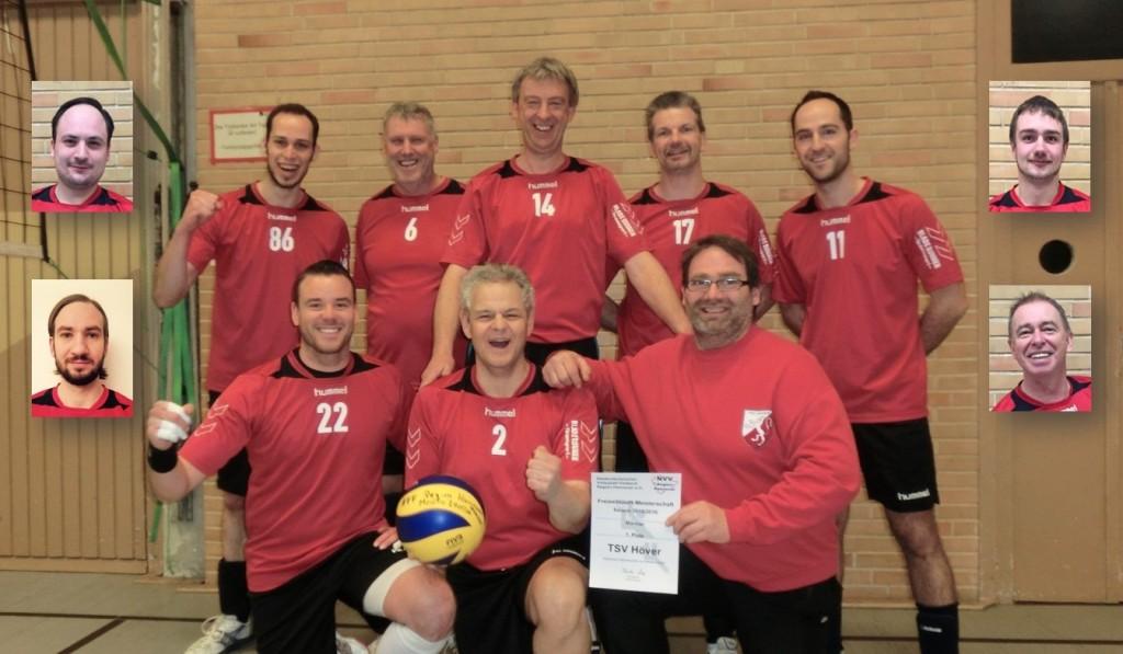 Meistersfoto der Herren-Volleyballmannschaft des TSV Höver